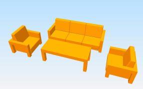時尚沙發模型