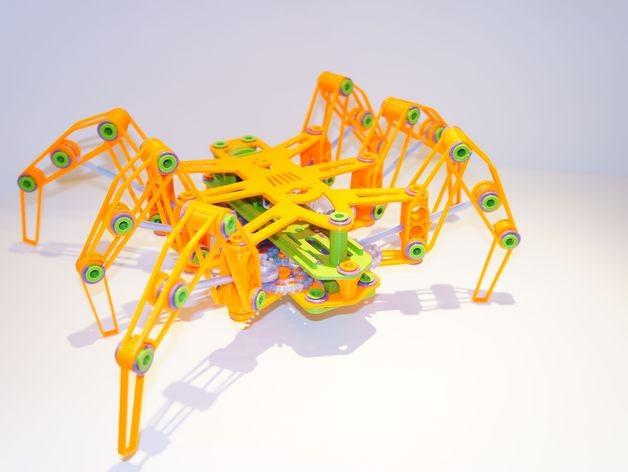 蜘蛛机器人DIY打印文件