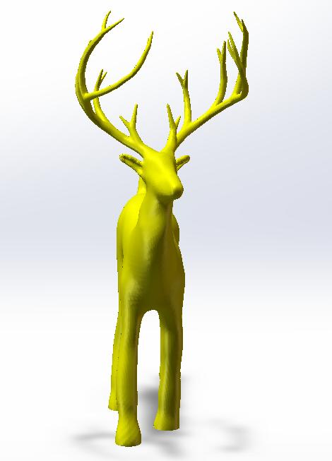 圣诞老人的麋鹿3D打印模型