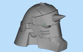 钢炼头盔三维模型