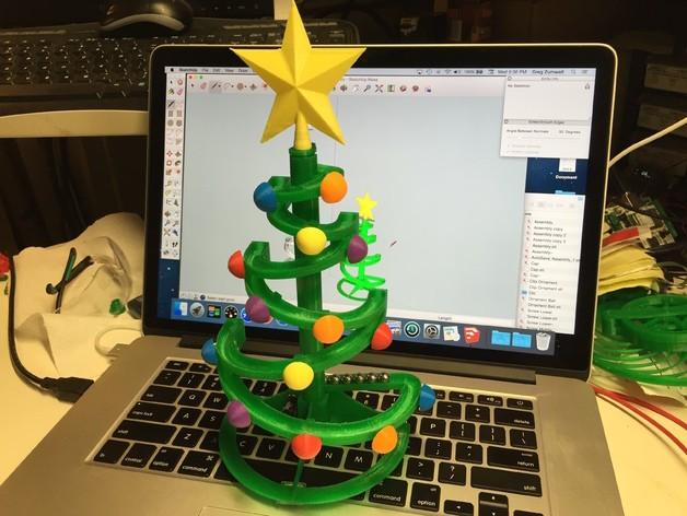 钢珠玄幻轨道圣诞树版