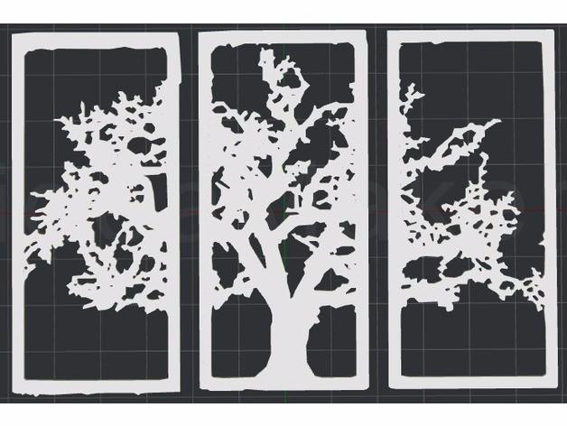 2D墙面艺术树
