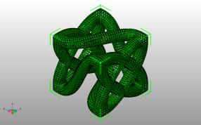 曲折立方模型