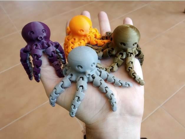 可运动的章鱼模型