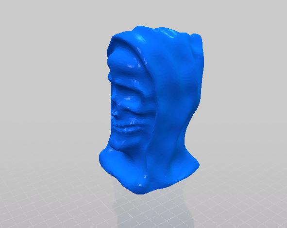 恶灵死神的头像打印模型