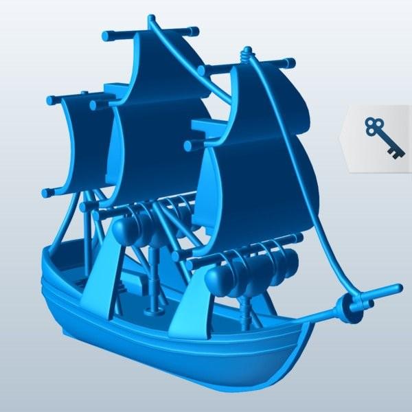 舰载艇模型