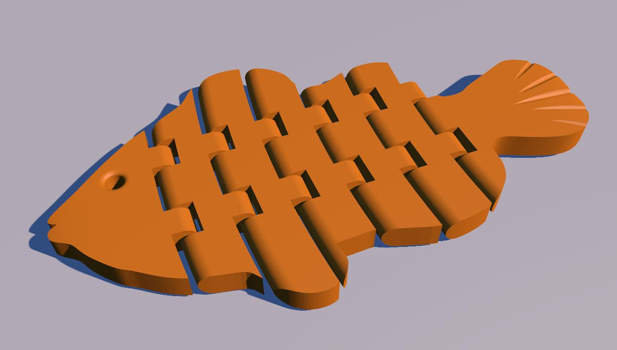 3D打印-会动的小鱼